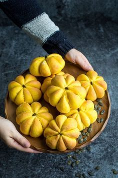 Vegan Pumpkin Bread Rolls. Great for making with kids!