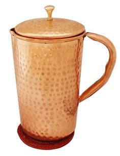 Indian Pure Copper Jug with Lid for Ayurvedic Healing, , Capacity 1.6 Litre: Amazon.co.uk: Kitchen & Home