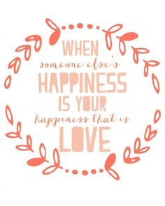 happiness and love