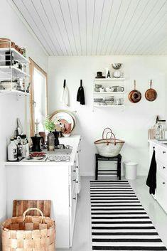 10 Inspiring Modern Kitchen Designs – My Life Spot Cheap Dorm Decor, Cheap Rustic Decor, Cabin Kitchens, Cottage Kitchens, Modern Kitchens, Black Kitchens, Cottage Design, House Design, Design Design