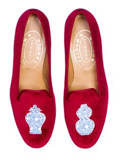 Gift Guide: Women as seen in Bungalow Magazine; Ming Garnet Slippers by Stubbs & Wootton, $450 stubbsandwootton.com
