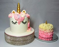 """Miss Evie hasa Unicorn cake and a Wee """"Smash"""" Cake for her Birthday Baby Girl First Birthday, Bday Girl, First Birthday Cakes, Birthday Cake Girls, Unicorn Birthday Parties, First Birthday Parties, First Birthdays, Unicorn Party, Birthday Ideas"""
