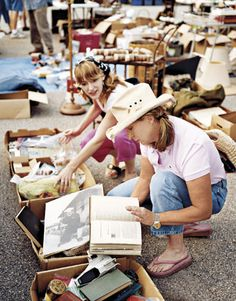 Rummaging through Vintage Books-Raleigh's Fairgrounds Flea Market