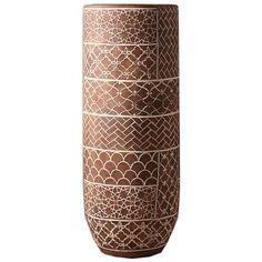 Bejana Vase ❤ liked on Polyvore featuring home, home decor, vases, terra cotta vase and terracotta vase