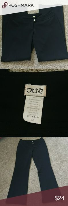 Gorgeous Cache Pants 12 Out of my work wardrobe, super nice! Size 12. 92% polyester 8% spandex. Inseam 32. Freshly dry cleaned. Cache Pants