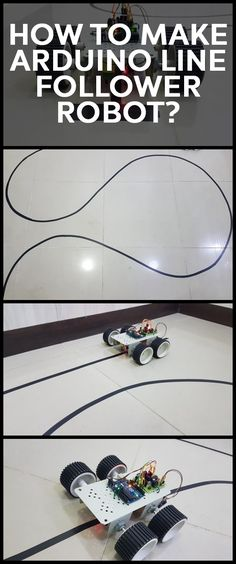 A Line Follower Robot, as the name suggests, is an automated guided vehicle, which follow a visual line embedded on the floor or ceiling. Usually, the visual line is the path in which the line follower robot goes and it will be a black line on a white surface but the other way (white line on a black surface) is also possible. Arduino Bluetooth, Arduino Led, Arduino Programming, Electronic Engineering, Electrical Engineering, Mechatronics Engineering, Diy Electronics, Electronics Projects, Iot Projects