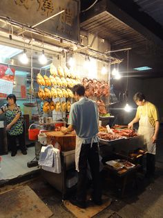 The BBQ shop at the Mei Foo market, Hong Kong by clara & james, via Flickr