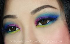 Urban Decay Electric Palette Makeup Lookb  I applied Gonzo on the crease I applied Jilted on the inner corner, Urban on the center and Chaos on the outer corner. I applied Rimmel Scandal Eyes Waterproof Khol Kajal Deep Blue on the waterline. I applied Thrash and Fringe on the lower lash line