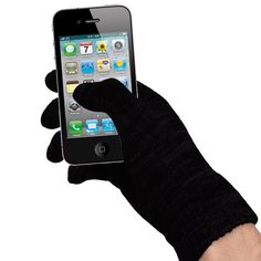 Touchscreen friendly warm gloves. Fashionable and won't scratch your screens.