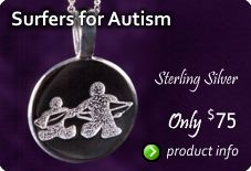 This sterling silver necklace was created for Surfers for Autism. Awesome group that you need to check out on Facebook!