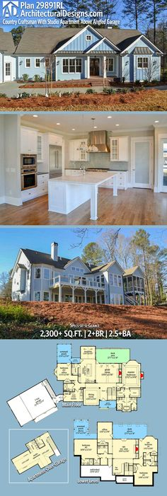 Architectural Designs House Plan 29891RL has 2+ beds and 2.5+ baths and 2,300+ square feet of heated living space. Ready when you are. Where do YOU want to build? #29891RL #adhouseplans #architecturaldesigns #houseplan #architecture #newhome #newconstruction #newhouse #homedesign #dreamhome #dreamhouse #homeplan #architecture #architect #houses