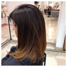 A #MarioTricoci touch of lighter color for a brunette. #bymario