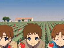 Aww so cute! I can't decide wether the middle one is Spain or Seborga. He's holding Romano's hand. It's definitely Spain. Gilbert Beilschmidt, Spamano, Tomato Sandwich, Holy Roman Empire, Hetalia Characters, Hetalia Axis Powers, Vash, Me Me Me Anime, Doujinshi