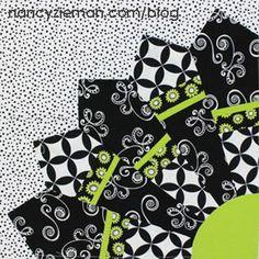 Block of the Month Quilt by Nancy Zieman/Dresden Fan Quilt Block # NZBoM
