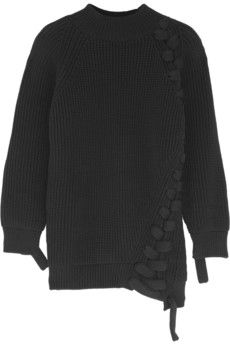 Victoria Beckham Oversized chunky-knit cotton-blend sweater   NET-A-PORTER
