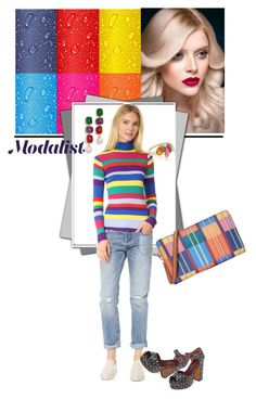 """""""Fun with Colors"""" by modalist ❤ liked on Polyvore featuring Marc Jacobs, Levi's, Mira Mikati, Kenneth Jay Lane, Inez & Vinoodh and Tory Burch"""