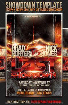 Showdown Flyer Template - Sports Events