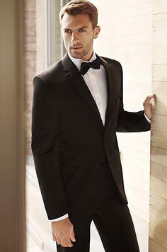 His tuxedo, Black by Vera Wang.