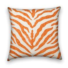 Chenille orange zebra print.