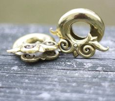 Dayak Asos brass coils by Evolve from Studios. Body Piercing, Piercings, Plugs, Studios, Asos, Wedding Rings, Engagement Rings, Pretty, Jewelry