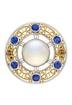 Lot 109 part of the Fine Jewelry Auction at Doyle. One round cabochon moonstone ap., 6 round sapphires, signed Tiffany & Co. Modern Jewelry, Luxury Jewelry, Fine Jewelry, Moonstone Jewelry, Emerald Jewelry, Gemstone Jewelry, Couple Jewelry, Pandora Jewelry, Necklace Designs