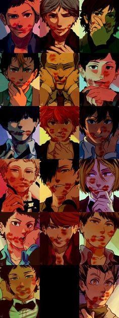 Omg I& am freaking out. Haikyuu Nishinoya, Haikyuu Funny, Haikyuu Fanart, Kageyama, Kenma, Oikawa, Fanarts Anime, Manga Anime, Hot Anime