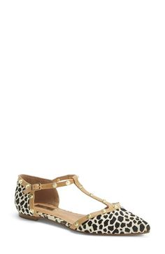 Halogen® 'Olson' Pointy Toe Studded T-Strap Flat (Women) available at #Nordstrom