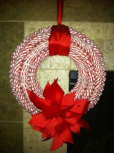 ... Mint, Candies Wreaths, Fun Crafts, Christmas Ideas, Peppermint Wreaths
