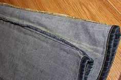 make your own skinny jeans... I need to borrow my nieces sewing machine!