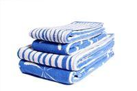 Splash & Stripe mukula.ca towels Scandinavian Design, Bath Towels, Textile Design, Product Launch, Cottage, Lady, Cottages, Cabin, Nordic Design
