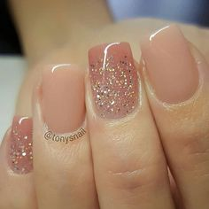 100 Nail art design inspiration nail acrylic design nail art designs You are in the right place about wedding nails acrylic almond Here we offer you the mos Acrylic Nails Natural, Cute Acrylic Nails, Acrylic Nail Designs, Nail Art Designs, Gel Manicure Designs, Glitter Gradient Nails, Gorgeous Nails, Pretty Nails, Nagellack Design