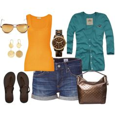 mustard and teal, created by hedufed on Polyvore