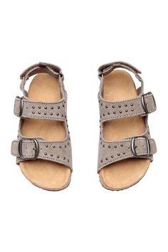 Sandales à brides en suède - Beige gris - ENFANT | H&M FR