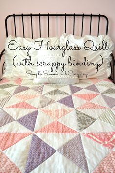 Hourglass Quilt With