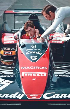 """He is the guy. He´s brilliant, we´ve just got to have him."" - chief designer Rory Byrne after Ayrton´s first Toleman F1 test."