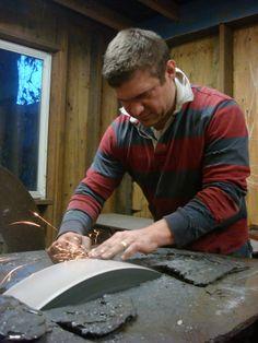 Blacksmith Murray Carter.