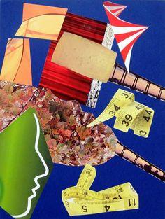 "Saatchi Art Artist Urbano Espinosa; #Collage ""Presentiment"" #art #abstract"