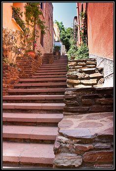 Escalier - Ruelle Collioure - France