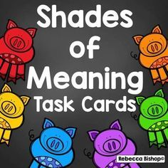 Early Elementary Resources, Elementary Education, Shades Of Meaning, 3rd Grade Reading, Third Grade, Multiple Meaning Words, Powerpoint Format, Becoming A Teacher, Teaching Reading