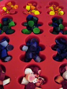 wax crayon melt christmas muffin tray - Google Search
