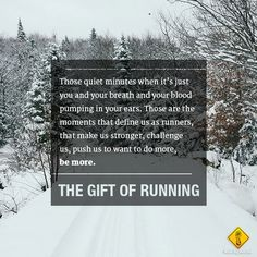 The gift of running.