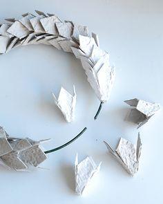 Egg Carton Wreath - http://www.sweetpaulmag.com/crafts/egg-carton-wreath #sweetpaul