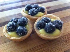 Lemon blueberry tarts April Showers Charlotte's Sweets
