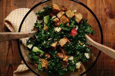 Kale Salad with Apples, Avocado & Grilled Maple Tempeh | Spirituality & Health Magazine