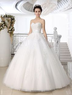 vestidos de noiva tomara que caia de renda e tule com espartilho