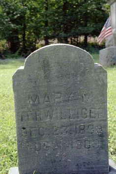 Mary Margaret Ferguson Terwilliger, Isaac's second wife, b. 23 Dec 1833 PA d. 1 Aug 1909 Fisher, Millcreek Twp, Clarion Co, PA bd. Methodist Cemetery, Fisher, Clarion Co, PA