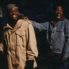 Tupac Shakur and Omar Epps on the set of Juice.