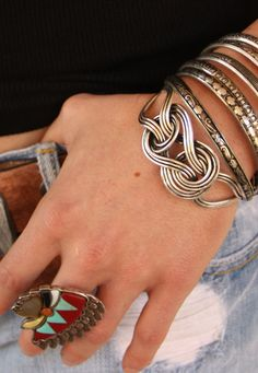 knotted cuff. a new fave.