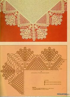 "FREE Crochet Lace Edge/Border diagrams...on bottom of page, there are arrows pointing backward and forward with ""home"" in between...touch the arrows to see many more items with diagrams!..."