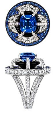 Luis Vuitton Place de la Concorde ring. #diamond #Rings www.finditforweddings.com